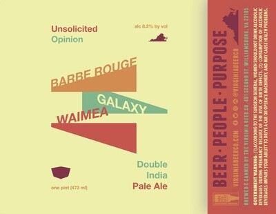 Unsolicited Opinion Double IPA - 4-Pack