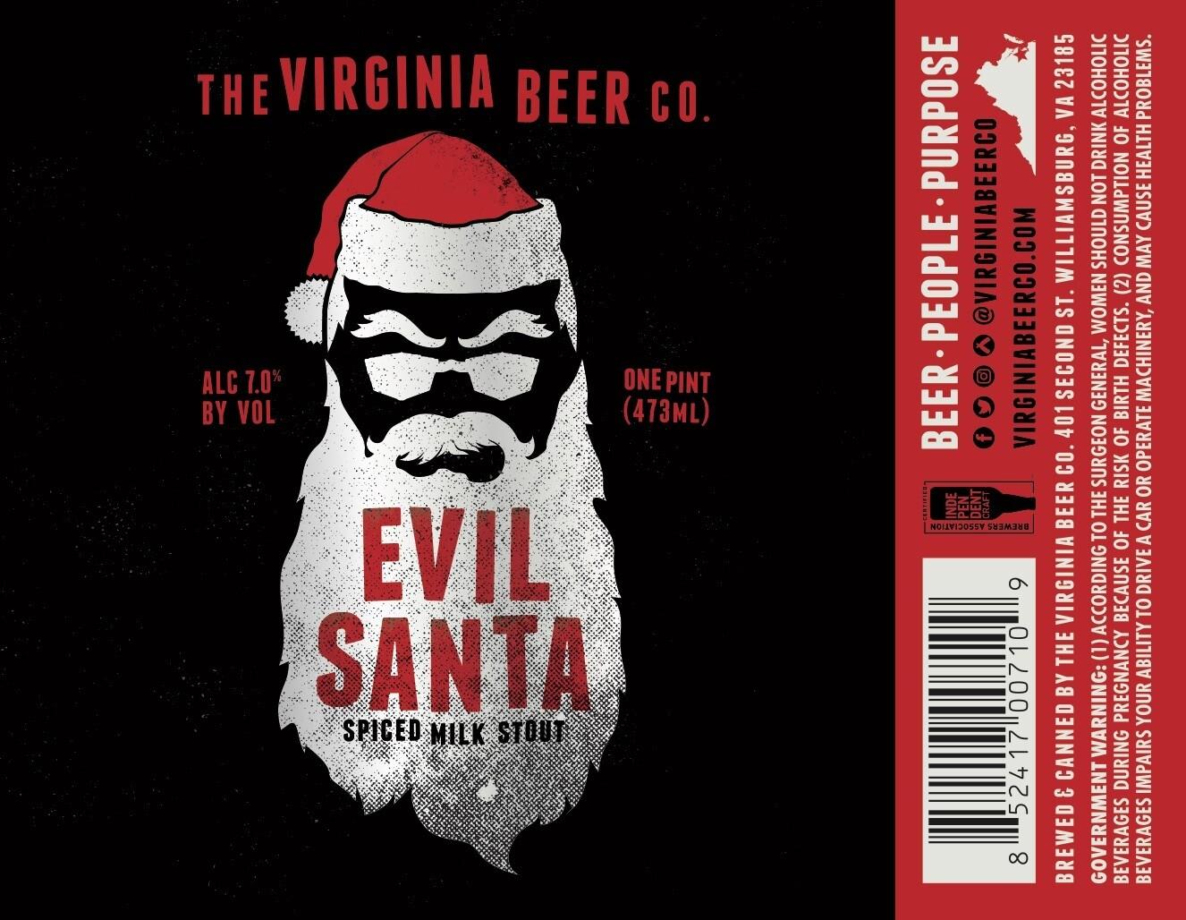 Evil Santa Spiced Milk Stout - 4 Pack