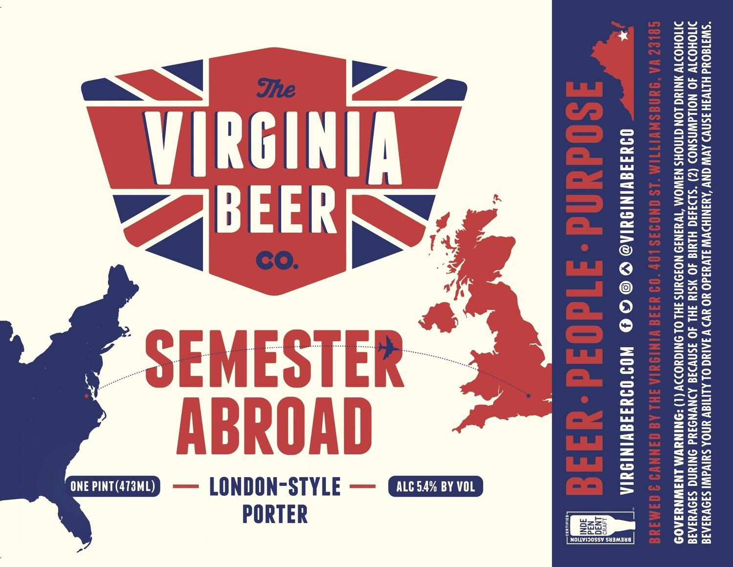 Semester Abroad London-Style Porter - 4-Pack