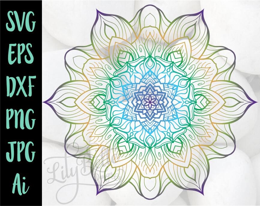 Sunflower Mandala 1.9 SVG PNG