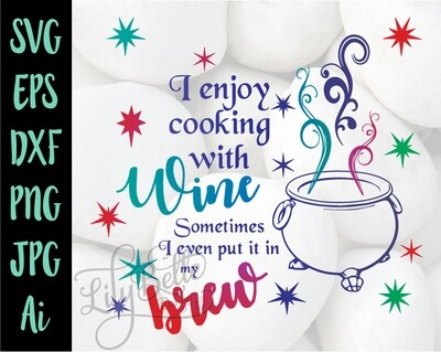 Cooking with Wine SVG