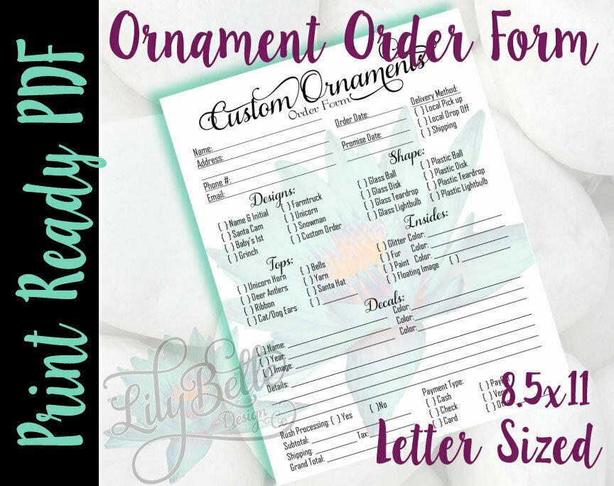 Ornament Order Form PDF