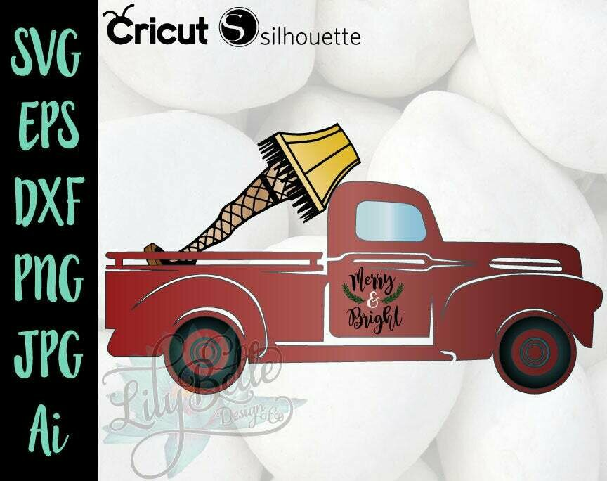 A Christmas Story Lamp Leg in a Red Truck SVG