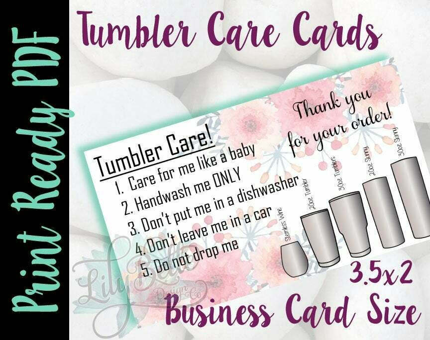 Tumbler Care Business Cards!