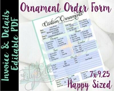 Ornament Order Form PDF Editable