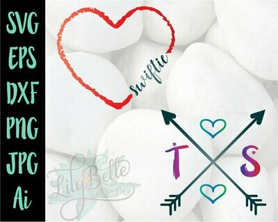 Taylor Swift Heart & Swiftie Heart SVG
