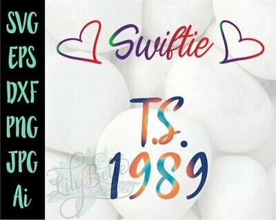 Taylor Swift Hearts & TS 1989 SVG