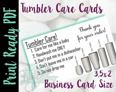 Tumbler Care Business Card PDF