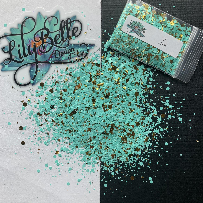 Santa Fe -  Turquoise & Gold Chunky Mix