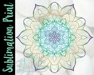 Sunflower Mandala Sublimation Print