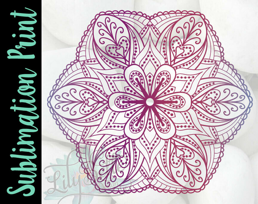 My Favorite Mandala Sublimation Print