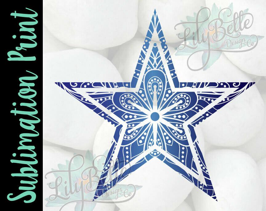 Cowboys Mandala Sublimation Print