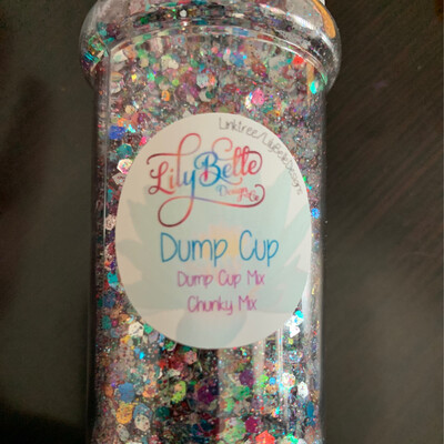 2oz Dump Cup Glitter
