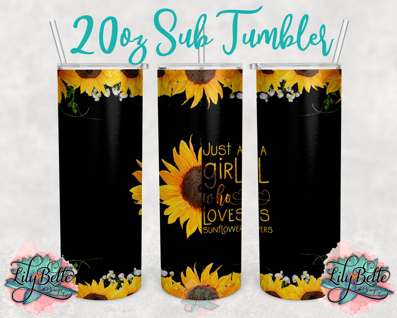 Sunflower Sublimation Tumbler 20oz
