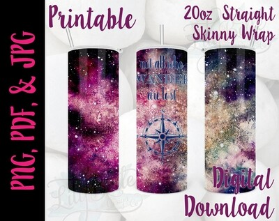 Not all who Wander 20oz Tumbler Wrap