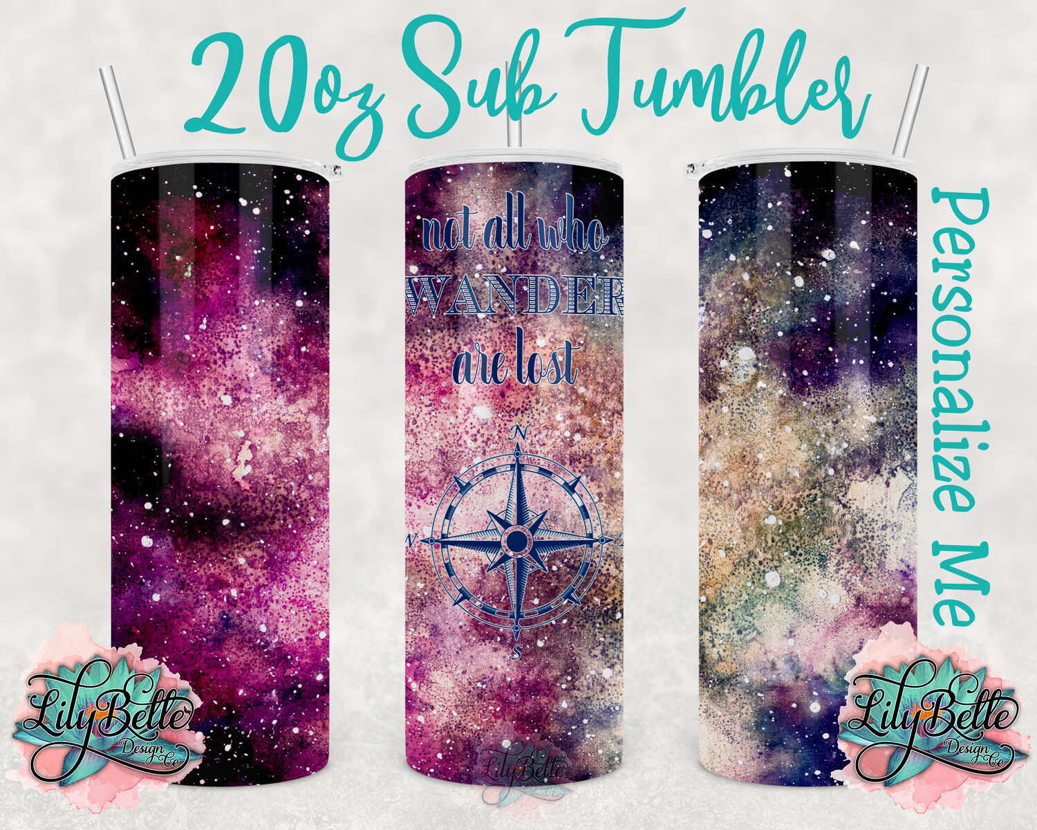 Not All Who Wander Sublimation Tumbler 20oz
