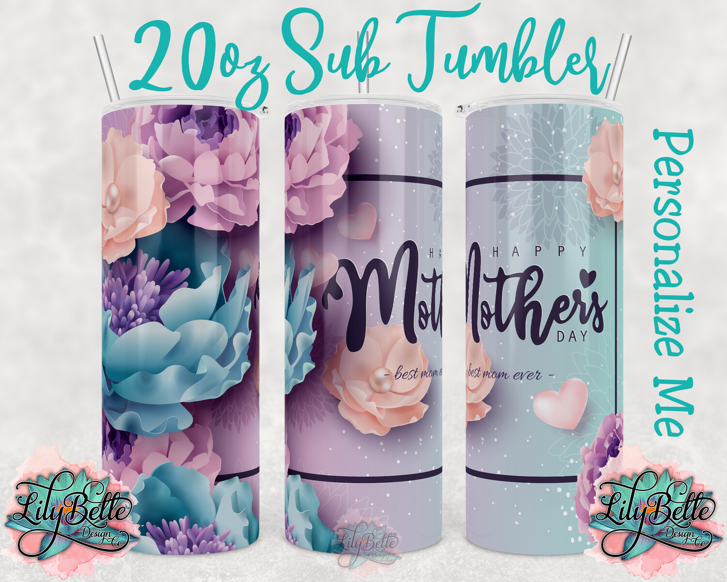 Mother's Day Sublimation Tumbler 20oz