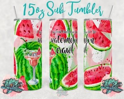 Watermelon Crawl 15oz Tumbler