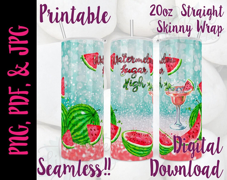 Watermelon Sugar High 20oz Tumbler Wrap