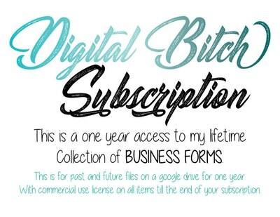 Digital Bitch Business Forms