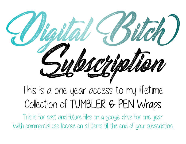 Digital Bitch Tumbler & Pen Wraps