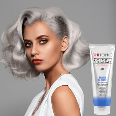 Chi Color Illuminate Conditioner Silver Blonde 8.5oz