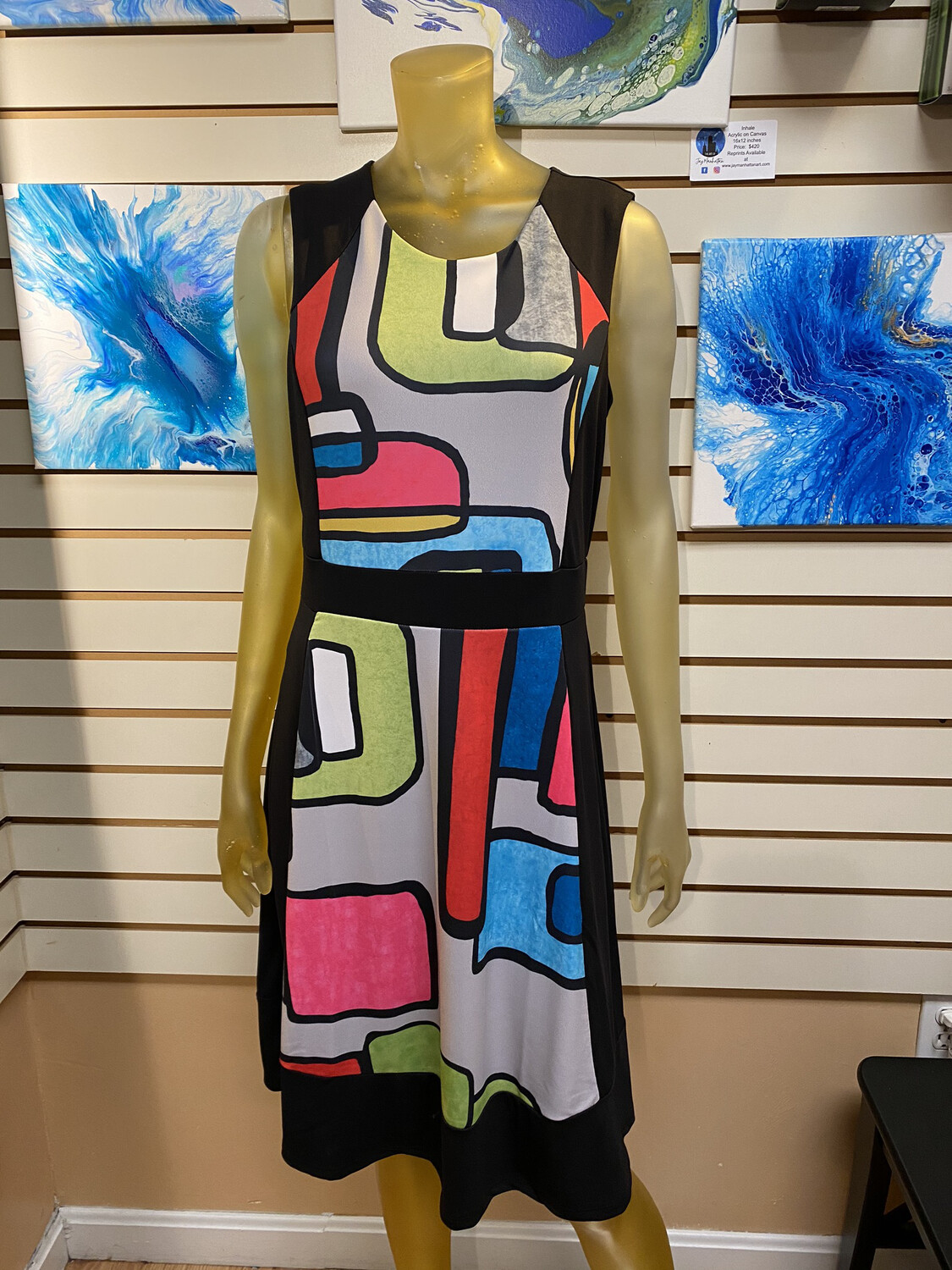 Major Deal Dolcezza Abstract Dress Only 1 In Large