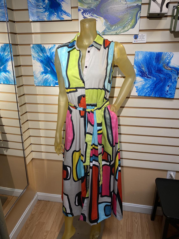 Major Deal Dolcezza Abstract Maxi Dress