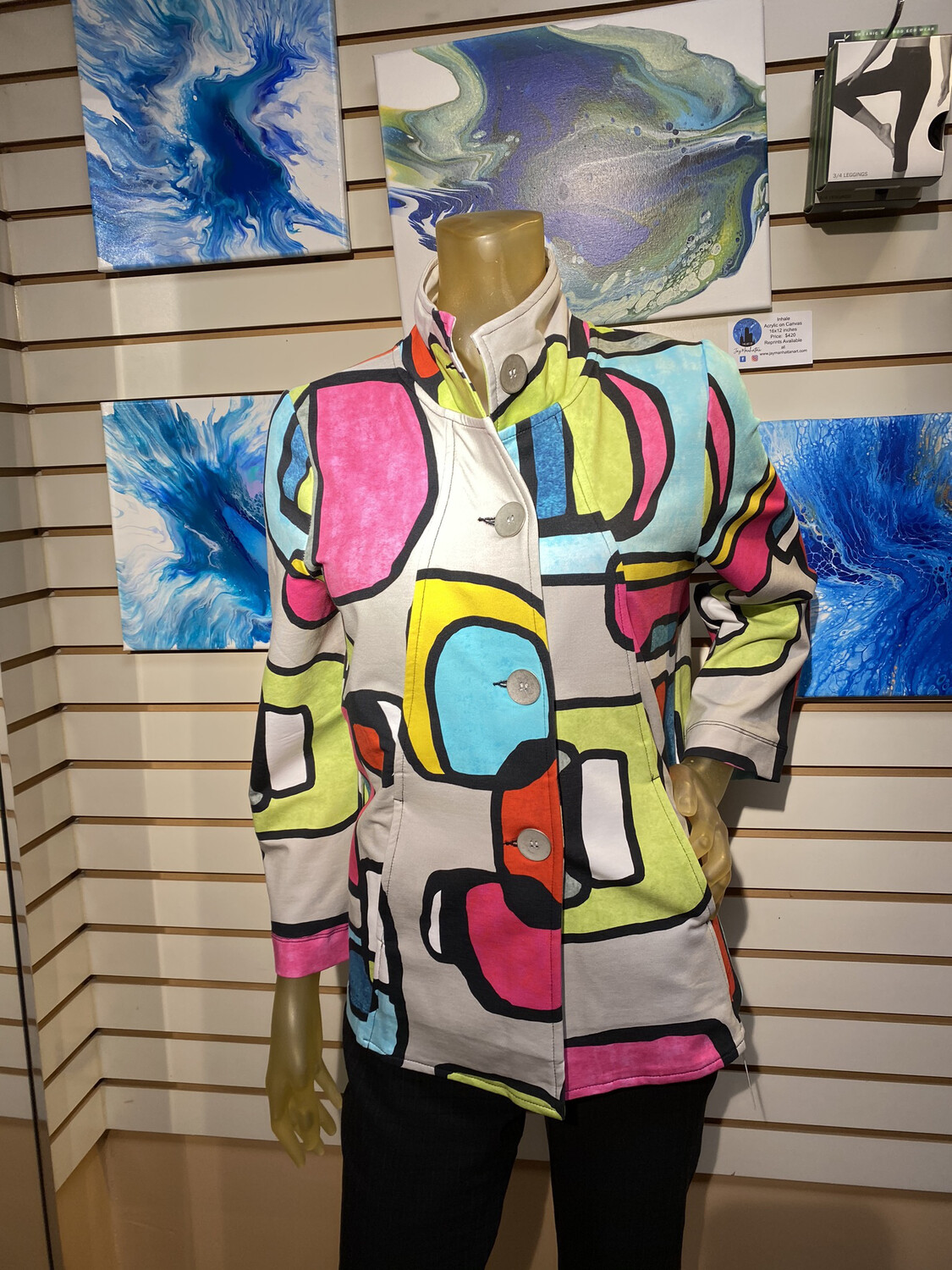 Major Deal Dolcezza Abstract Jacket Only 1 In XXL