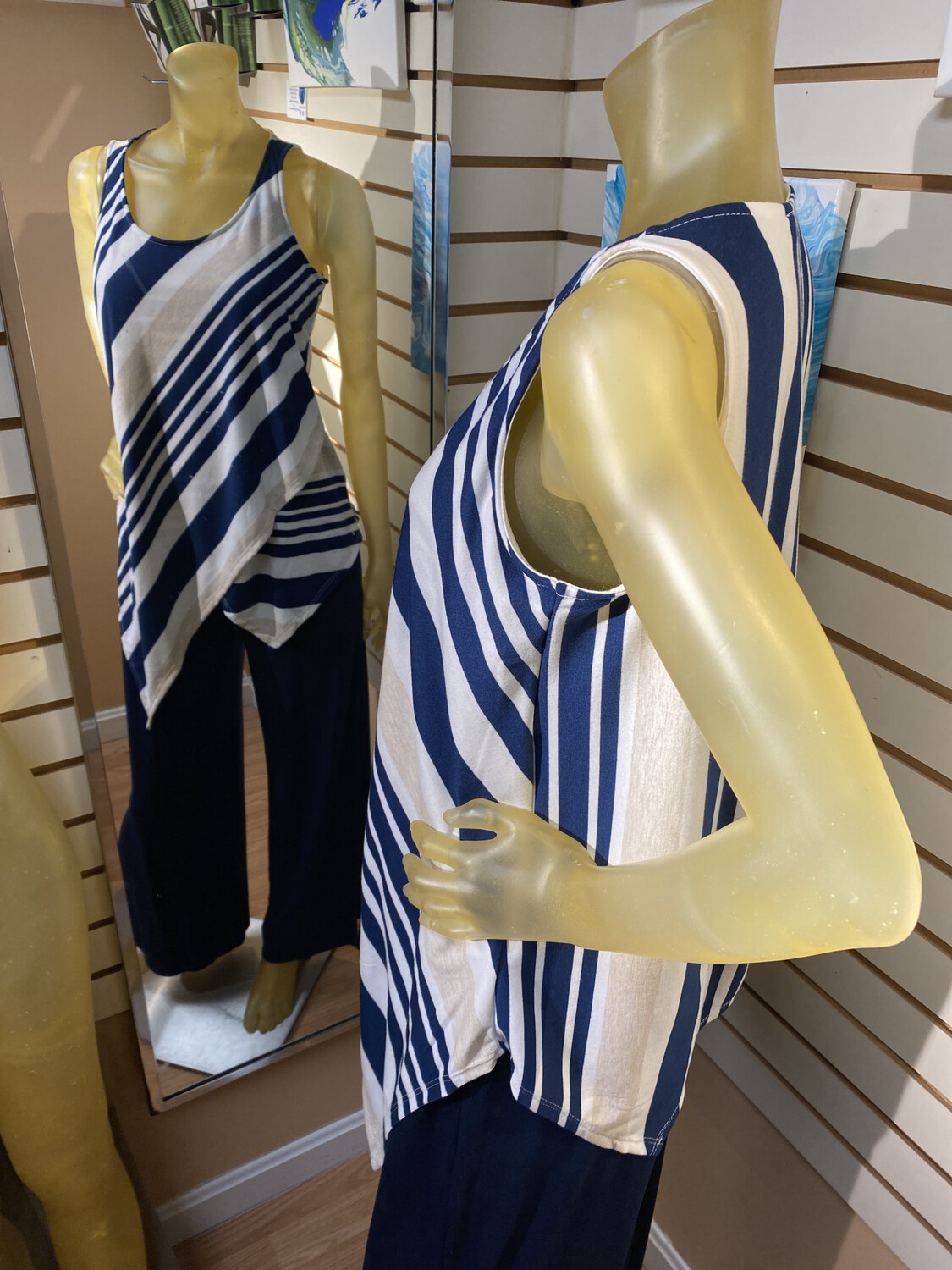 Major Deal Inside Out Modal Striped Sleeveless Top Made In USA Only 1 S Fits Like 4/6