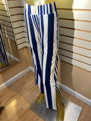 Major Deal Inside Put Modal striped Wide Leg Pant. Made In USA