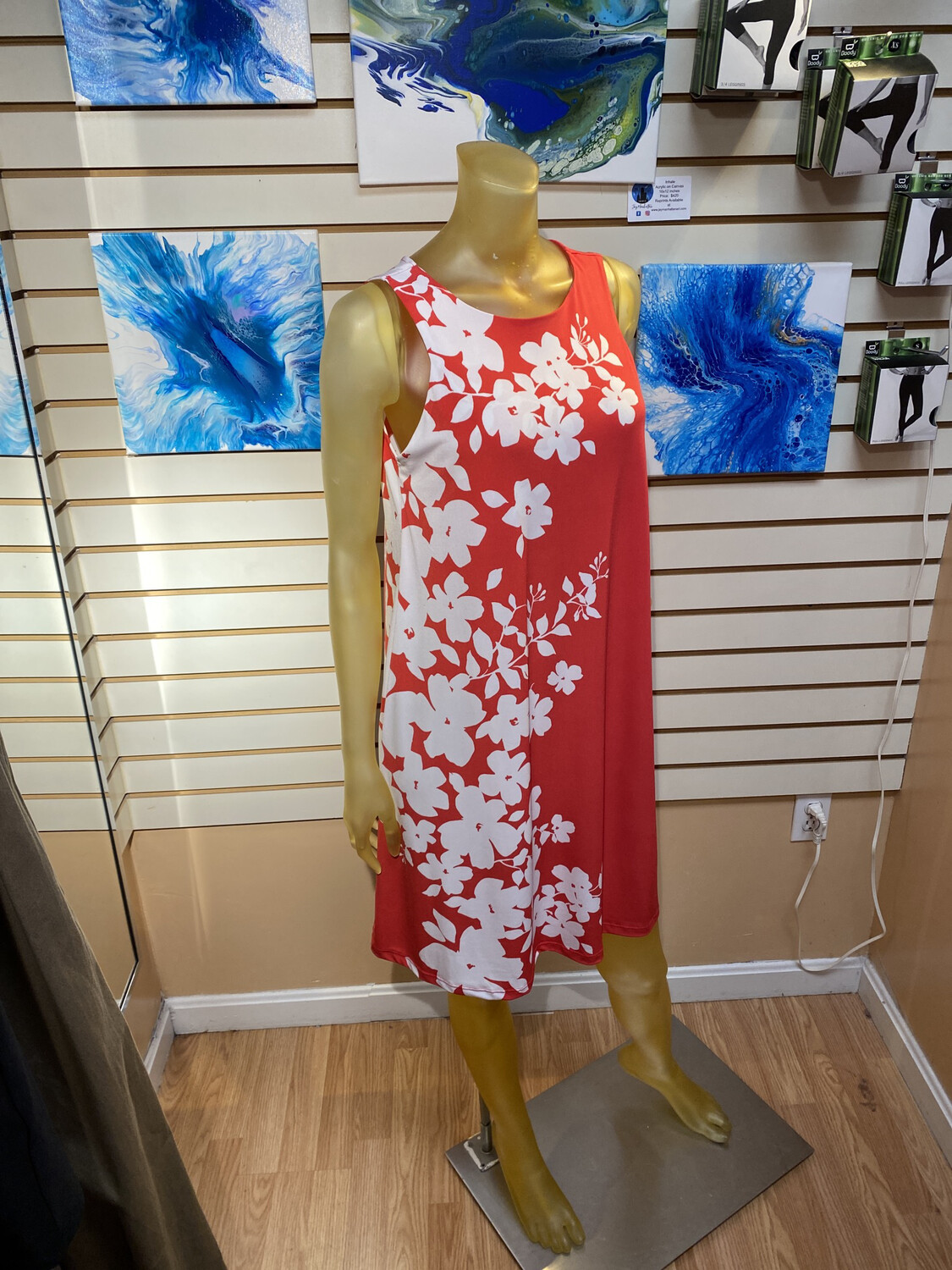 Major Deal Clara SunWoo Floral Vines Coral/White Made In USA