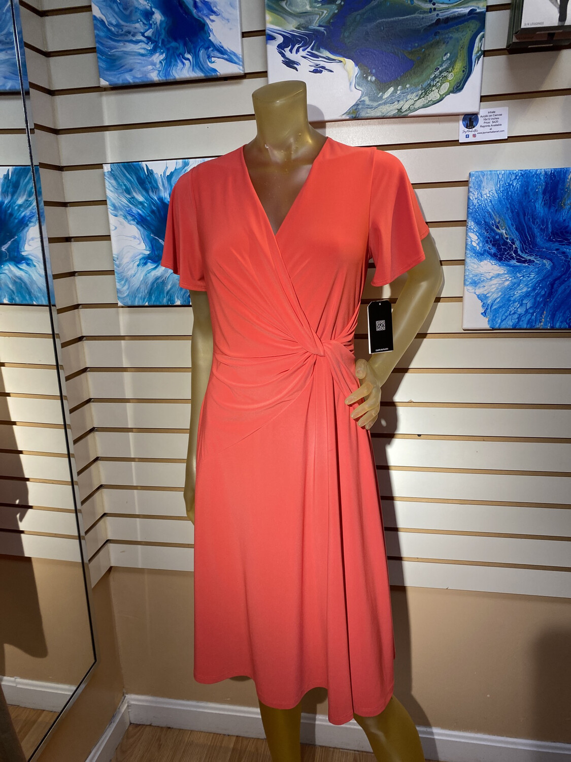 Major Deal Clara SunWoo Coral Dress. Made In USA Only 1 XL/16