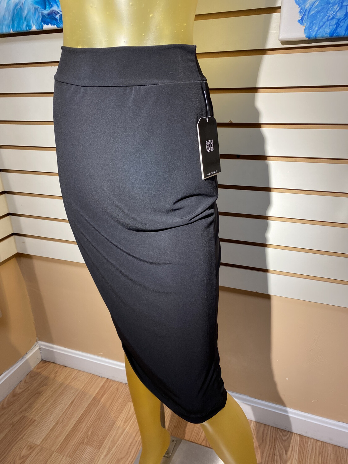 Major Deal Clara SunWoo Relaxed Pencil Skirt. Black. Made In USA