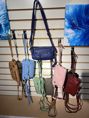 Softest Vegan Small Cross Body Or Wristlet.