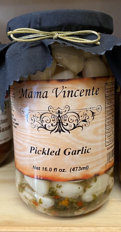 Mama Vincente Pickles Garlic 16 Fl oz