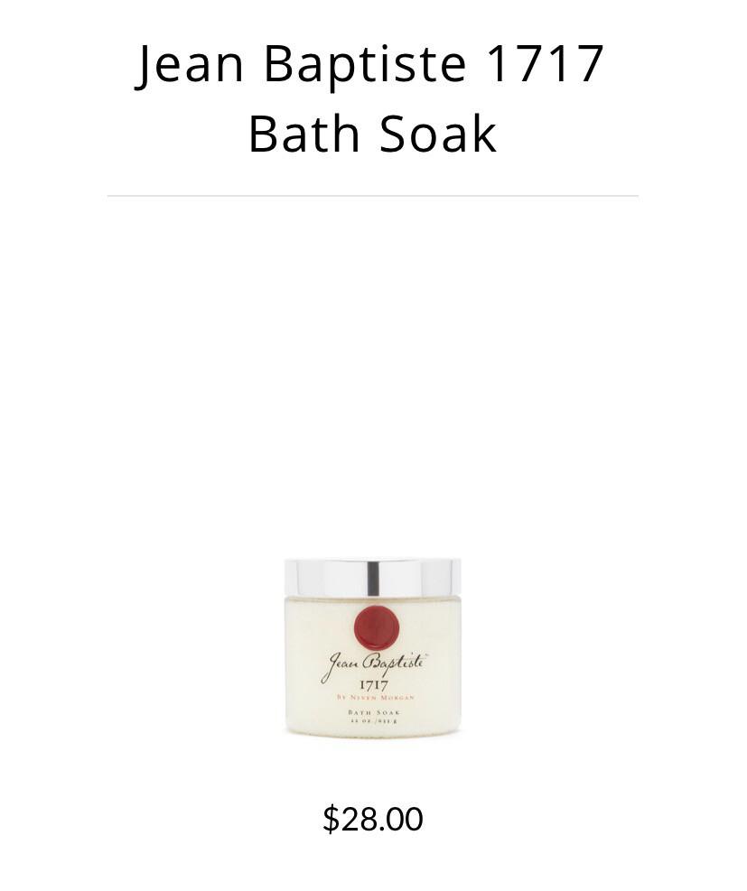 Jean Baptiste 1717 Fine Bath Soak