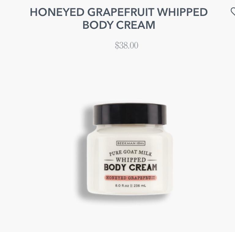 Beekman Honeyed Grapefruit Pure Goat Milk Whipped Body Cream 8.0 oz