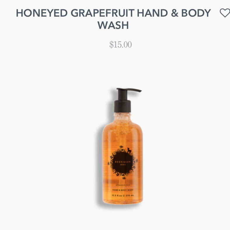 Beekman Hand And Body Wash. Honeyed Grapefruit 12.5 oz