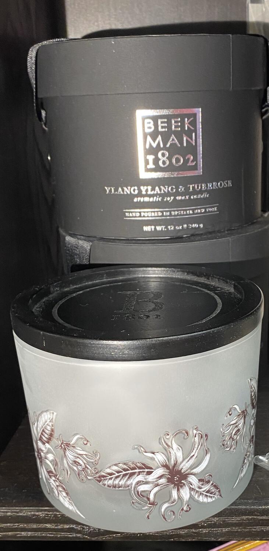 Beekman Ylang Ylang And Tuberose Candle 12 oz Boxed