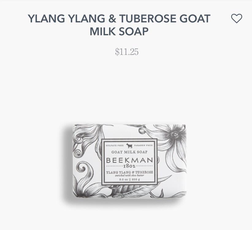 Beekman Ylang Ylang & Tuberose Soap 9 oz
