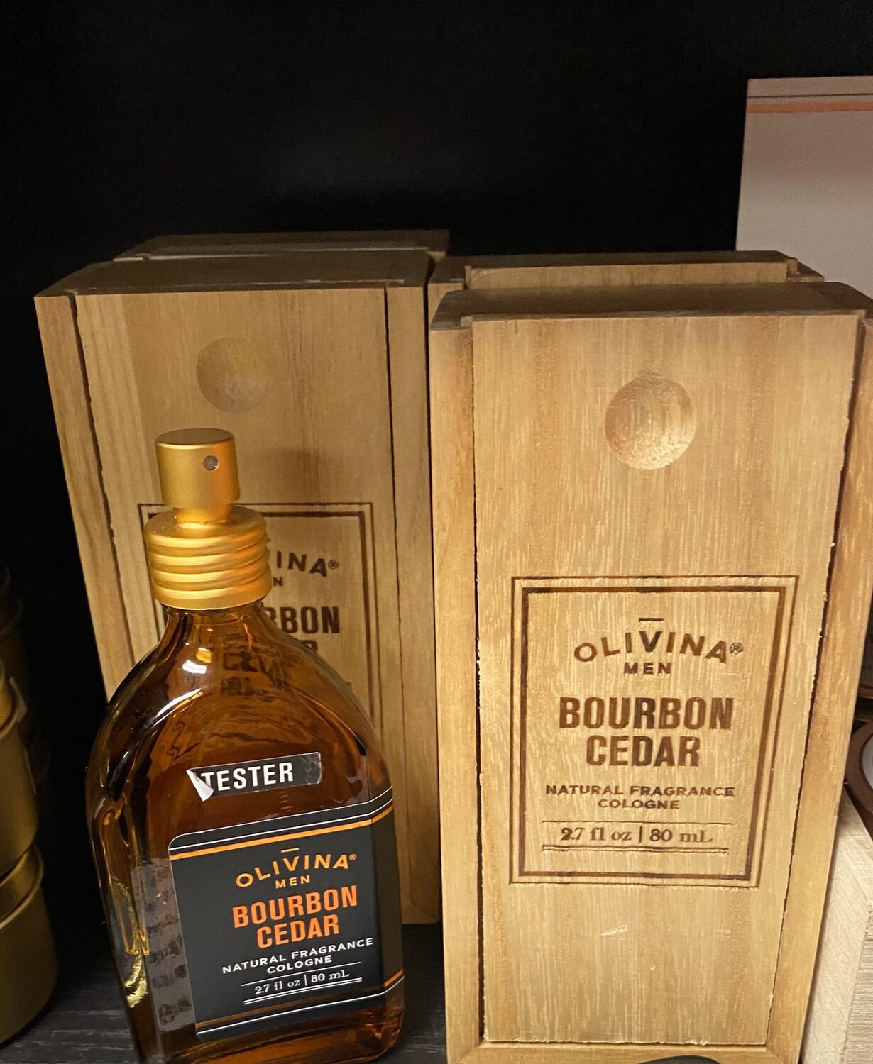 Olivina Bourbon Cedar Cologne In Box