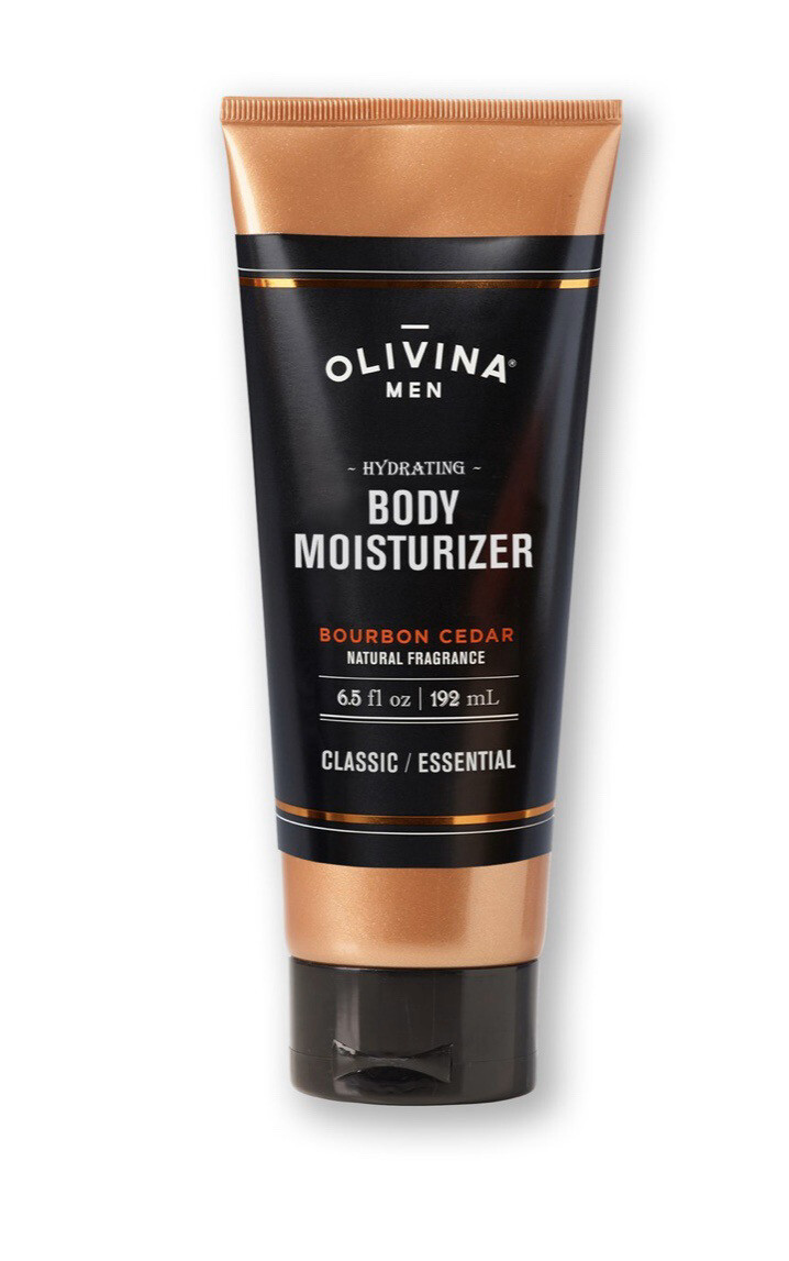 Olivina Body Mens Bourbon Cedar Moisturizer 6.5 oz