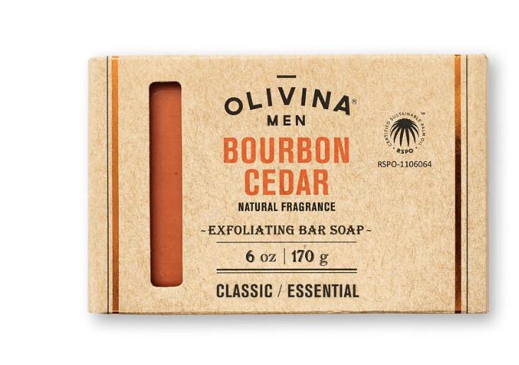 Olivina Bourbon Cedar Exfoliating Soap 6oz