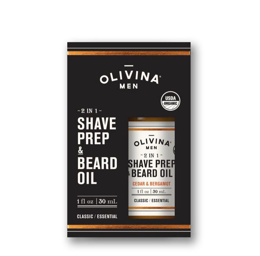 Olivina 2 In 1 Shave Prep And Beard Oil 1 oz