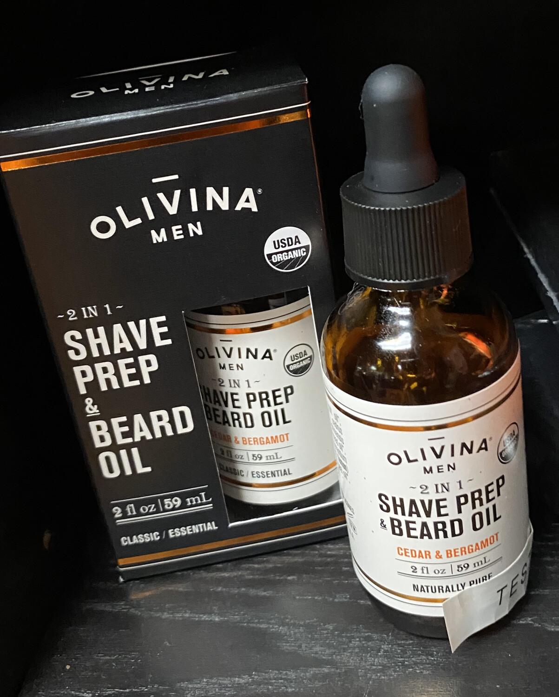Olivina 2 In 1 Shave Prep And Beard Oil 2 oz