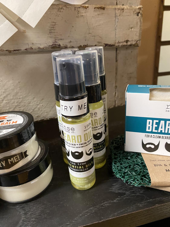 Men's Natural Beard Oil Tea Tree & Peppermint