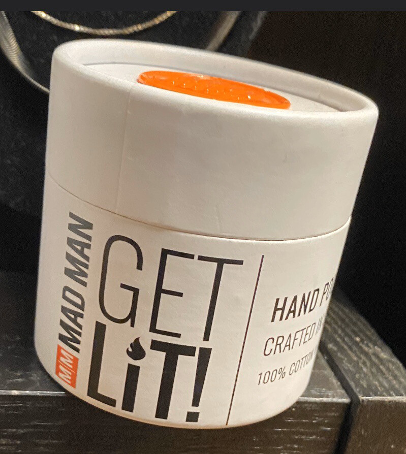 Get Lite! Mad Man Hand Poured Candle Barber Shop