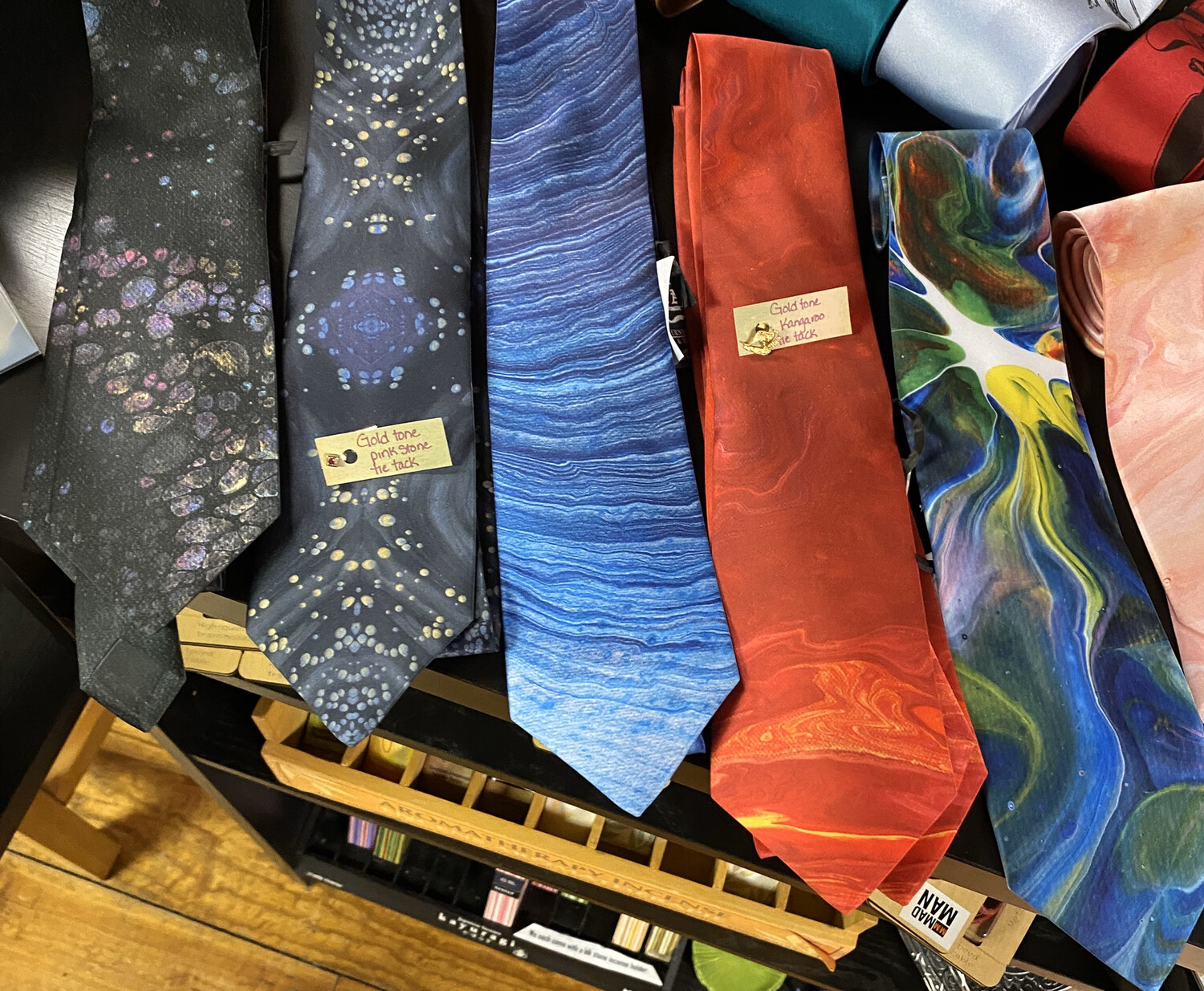 Nahah Studios Men's Silk Ties Studios Hand Made From A Painting. Tap For Color Selection