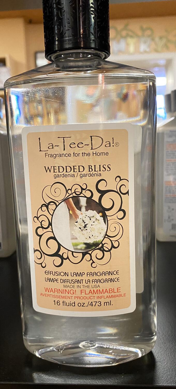 La Tee Da Wedded Bliss Gardenia Effusion Lamp Oil 16 oz